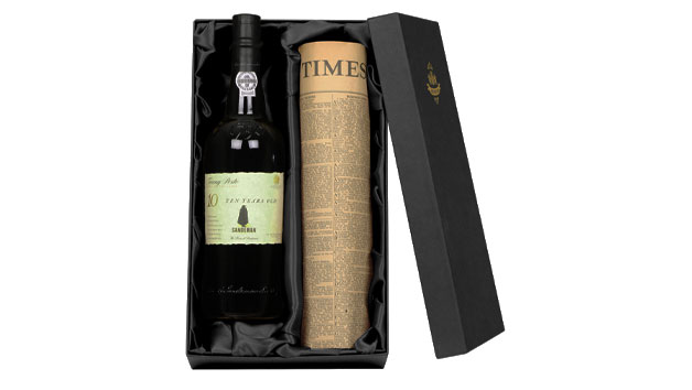 10 Year Old Tawny Port With Newspaper in a Luxury Gift Box