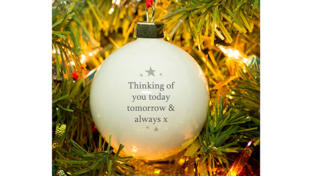 'Our Star in Heaven' Personalised Christmas Memorial Bauble