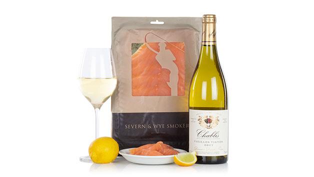 Salmon and Chablis Wine Gift Set