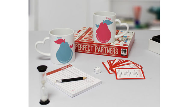 Personalised Mugs with Perfect Partners Game Set