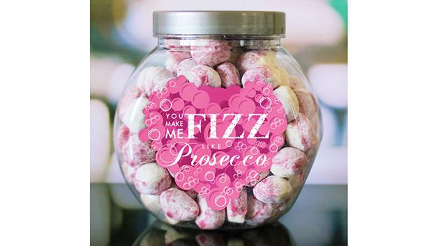 You Make Me Fizz Like Prosecco Personalised Sweet Jar