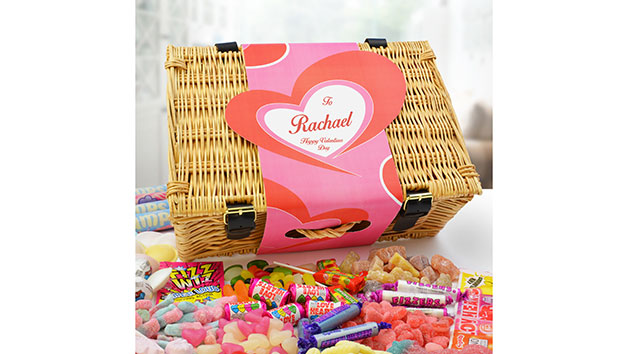 Personalised Sweet Hamper for Valentine's Day