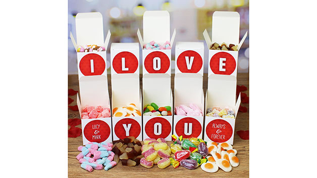 I Love You Personalised Sweet Boxes