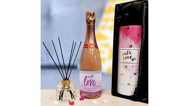 Personalised with Love Sparkling Rosé and Reed Diffuser Gift Set