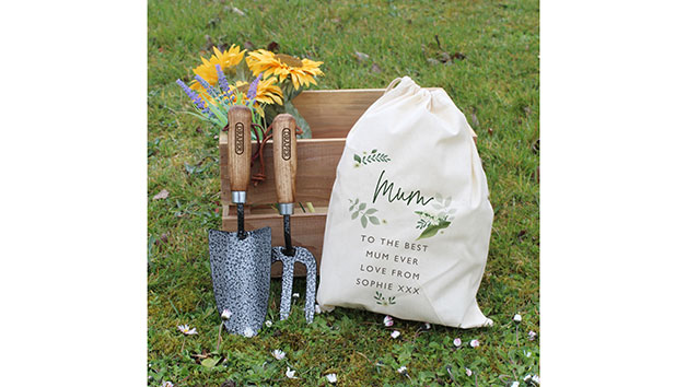 Floral Gardening Tool Set with Personalisation