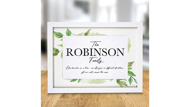 Personalised Family Tree A4 Framed Print