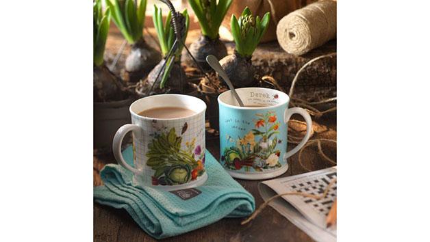 Personalised Set of Royal Horticultural Society Mugs