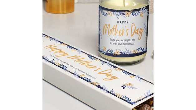 Customised Happy Mother's Day Candle and Truffles Gift Set