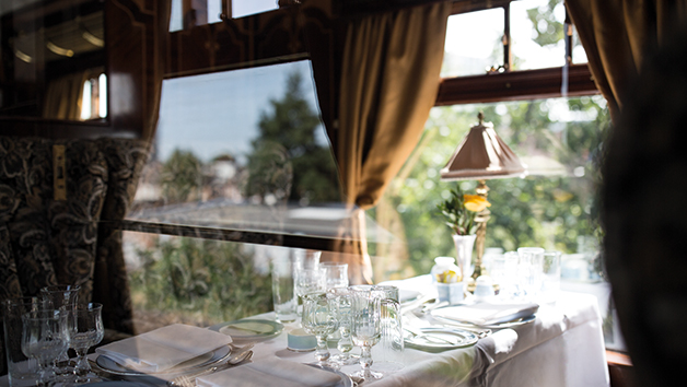 Golden Age of Travel on Belmond British Pullman with a Bottle of Champagne for Two