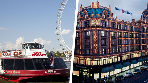 Cream Tea at Harrods with River Cruise for Two