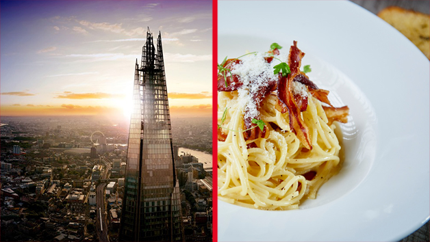 The View from The Shard with Three Course Dining and Bubbles for Two