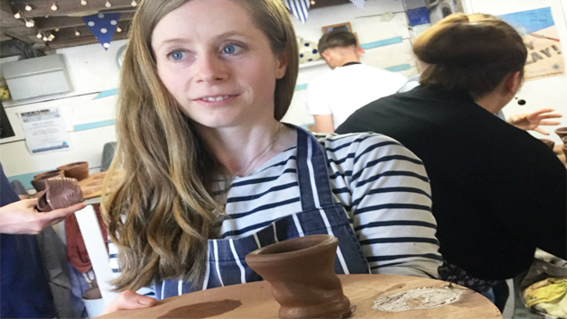 Potters Wheel Workshop Experience for One at Eastnor Pottery