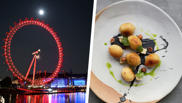 London Eye and Deluxe Bateaux Dinner Cruise for Two