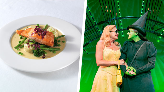 Wicked The Musical Theatre Tickets and a Three Course Meal with Wine for Two at Prezzo
