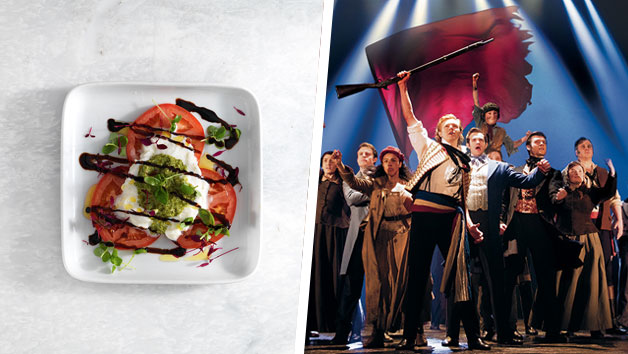 Les Miserables Theatre Tickets and a Three Course Meal with Wine for Two at Prezzo