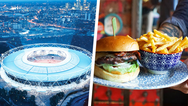 London Stadium Tour with Three Course Meal at Cabana Westfield Stratford for Two