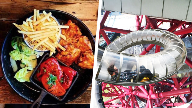 The Slide at The ArcelorMittal Orbit with Three Course Meal at Cabana for Two