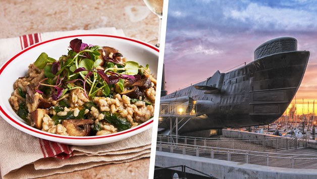 Portsmouth Historic Dockyard Pass with Three Course Meal at Cafe Rouge for Two