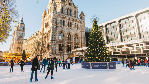 Christmas Ice Skating at the Natural History Museum Ice Rink for Two