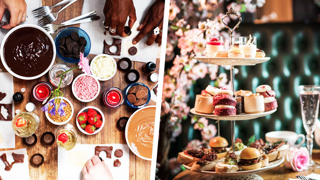 Chocolate Workshop and Tapas Style Afternoon Tea with Champagne at MAP Maison for Two
