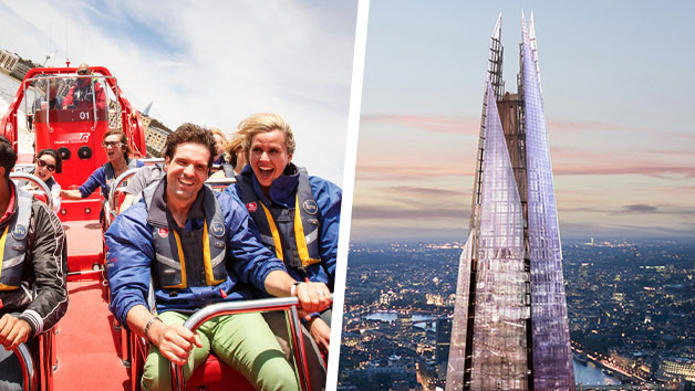 Highest Fastest! River Thames Speedboat Ride & The View from The Shard for Two