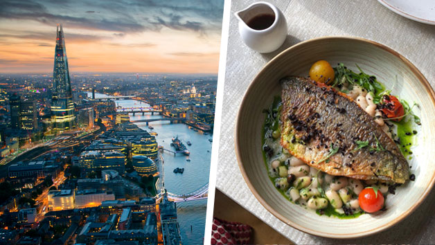 The View from The Shard and a Three Course Meal at a Gordon Ramsay Restaurant for Two