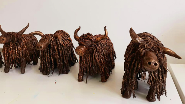 Highland Cow Sculpture Workshop with Craft My Day for Two