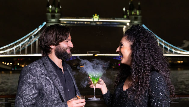 Signature Bateaux Thames Cruise and Five Course Dinner with Unlimited Wine for Two