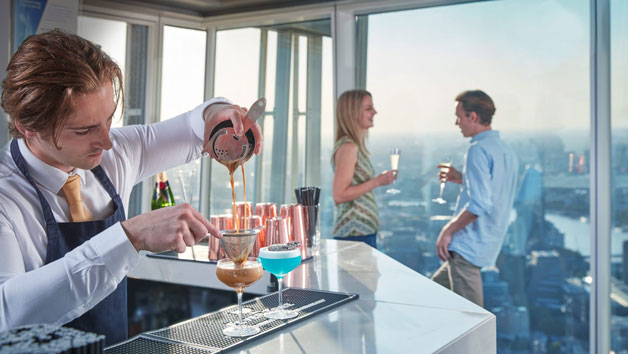 The View from The Shard Entry and a Cocktail for One