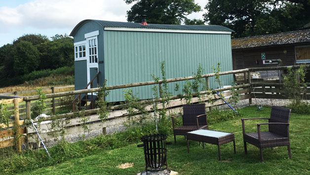 Two Night Shepherd's Hut Break for up to Four in Devon During High Season
