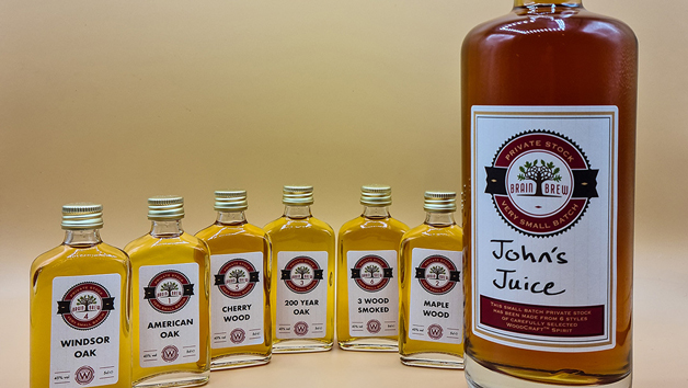 Home Bourbon Making Experience with Six 50ml Bottles of Bourbon and a Personalised 700ml Bottle