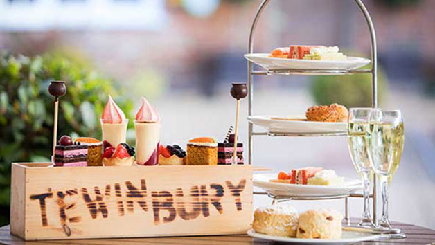 Afternoon Tea with Fizz for Two at Tewin Bury Fam Hotel