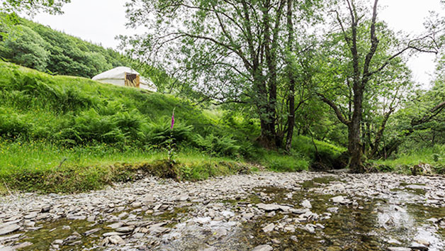 Two Night River Yurt Retreat for Two in Wales