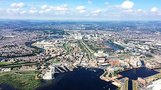 25 Mile Helicopter City Tour of Cardiff