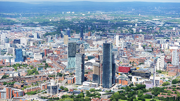 50 Mile Helicopter City Tour of Manchester