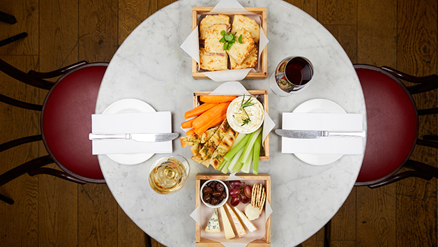 Cheese Afternoon Tea with Wine for Two at Cafe Rouge