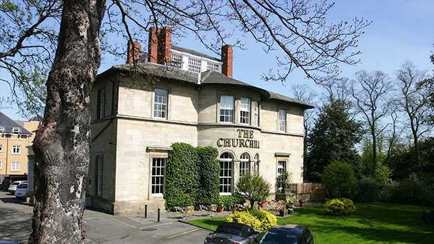 Overnight Stay and Three Course Dinner with Fizz at The Churchill Hotel for Two