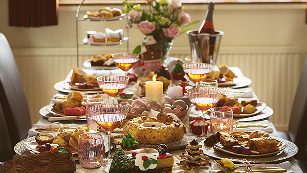 Christmas Family Festive Tea at Home with Piglet's Pantry for Four