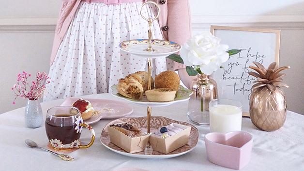 Vegetarian Afternoon Tea at Home with Piglet's Pantry for One