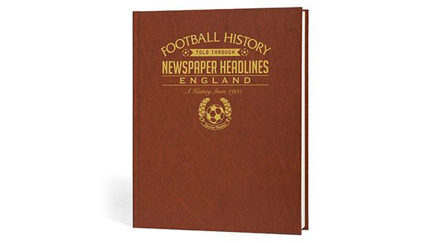England Football Personalised Newspaper Book