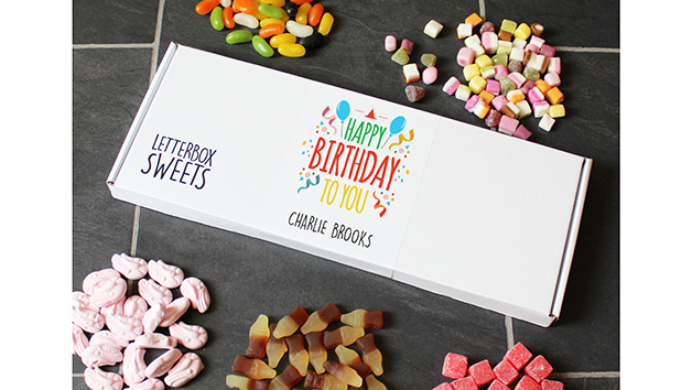Happy Birthday Letterbox Sweets Gift