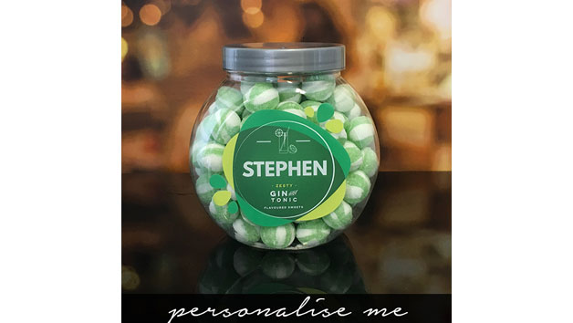 Gin and Tonic Flavoured Sweets Jar