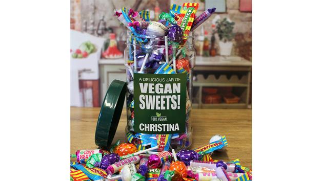 Personalised Vegan Sweet Jar
