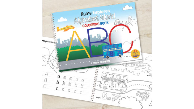 Personalised Alphabet World Activity Book for Children