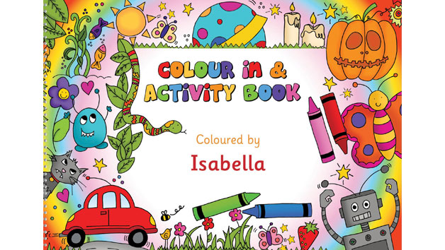 Personalised Colour In and Activity Learning Book