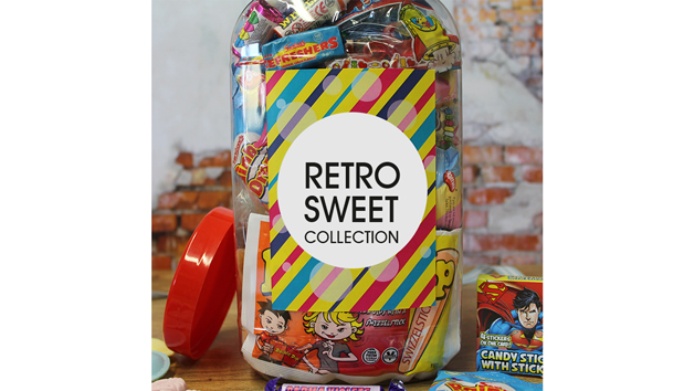 Giant Personalised Retro Sweet Jar