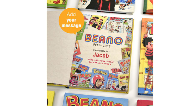 Personalised Beano Annual from a Choice of Year