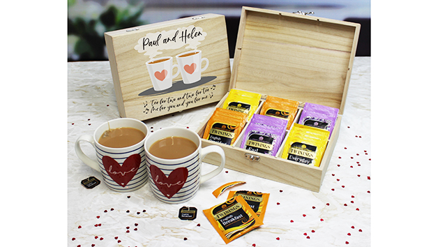 Tea for two - Personalised Twinings Teas Storage Box