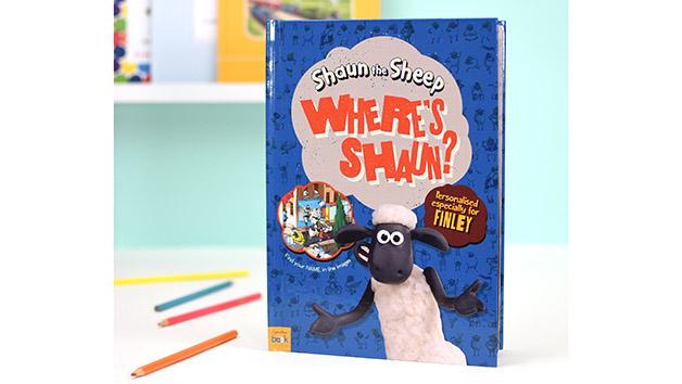 Personalised Shaun the Sheep Where's Shaun? Book