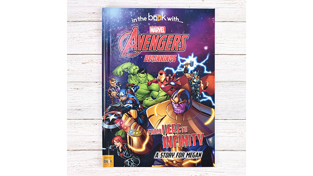 Personalised Marvel Avengers Beginnings from Here to Infinity Book